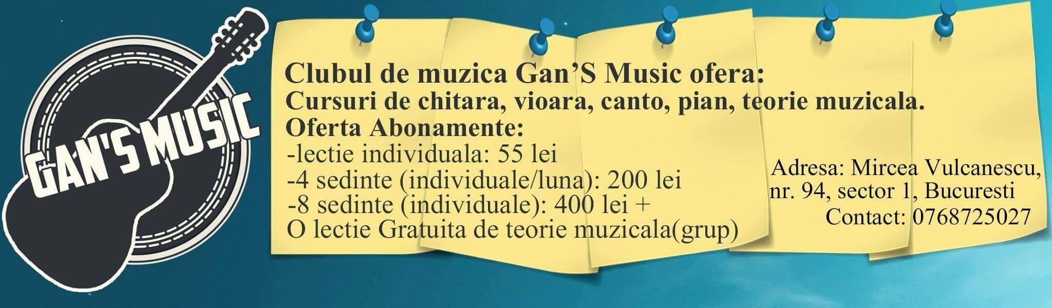 Cursuri muzica sector 1 bucuresti